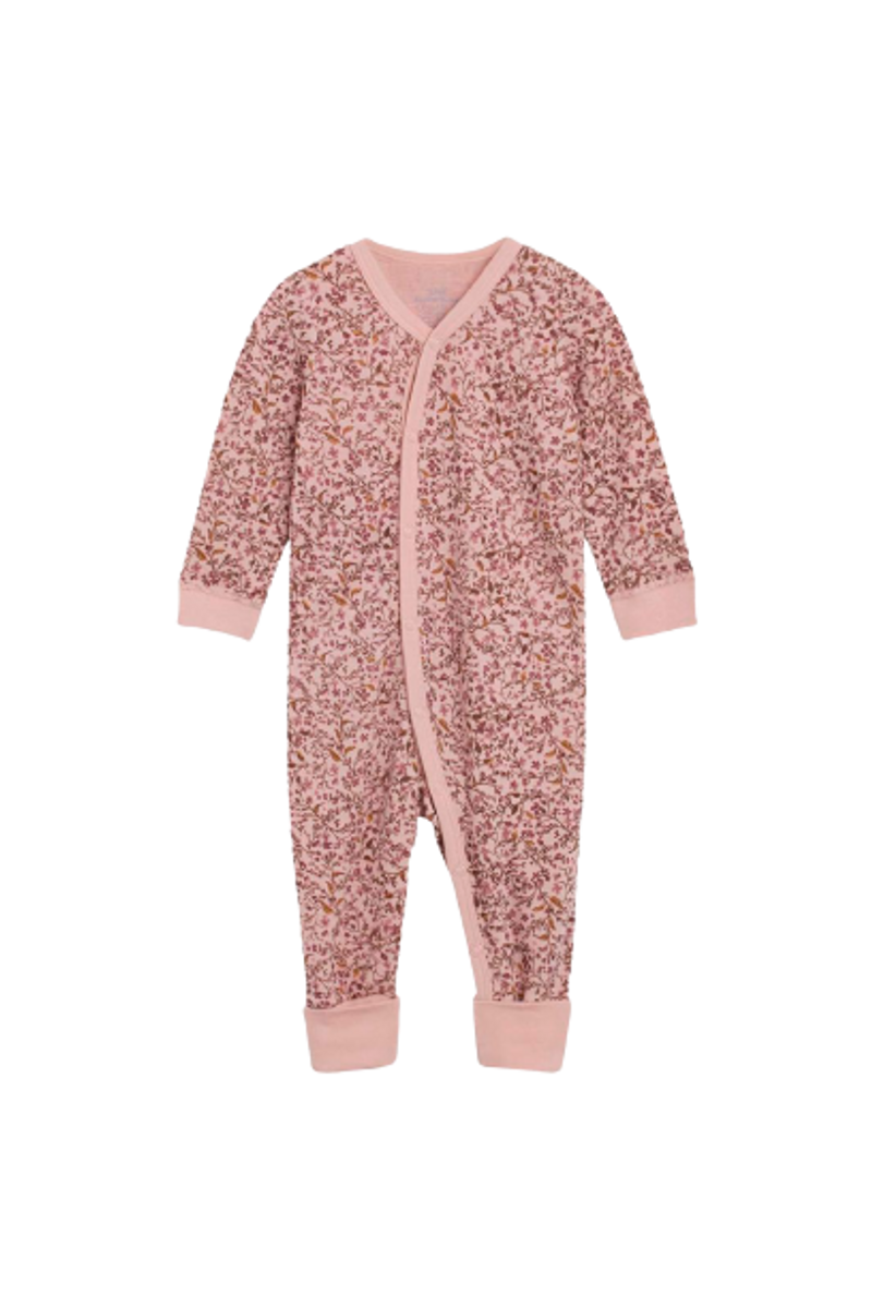 Hust & Claire Manui Flower ull/bambus heldress - dusty rose