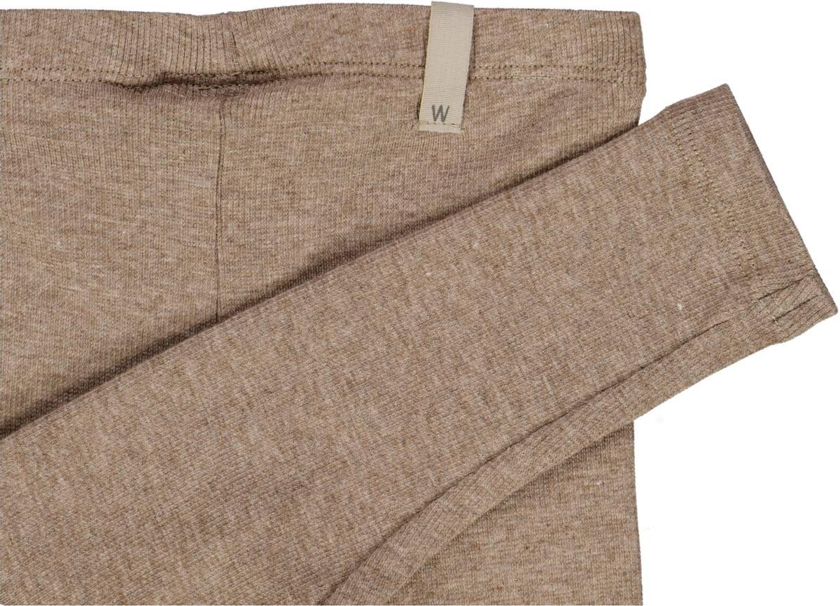 Wheat Rib leggings - khaki melange