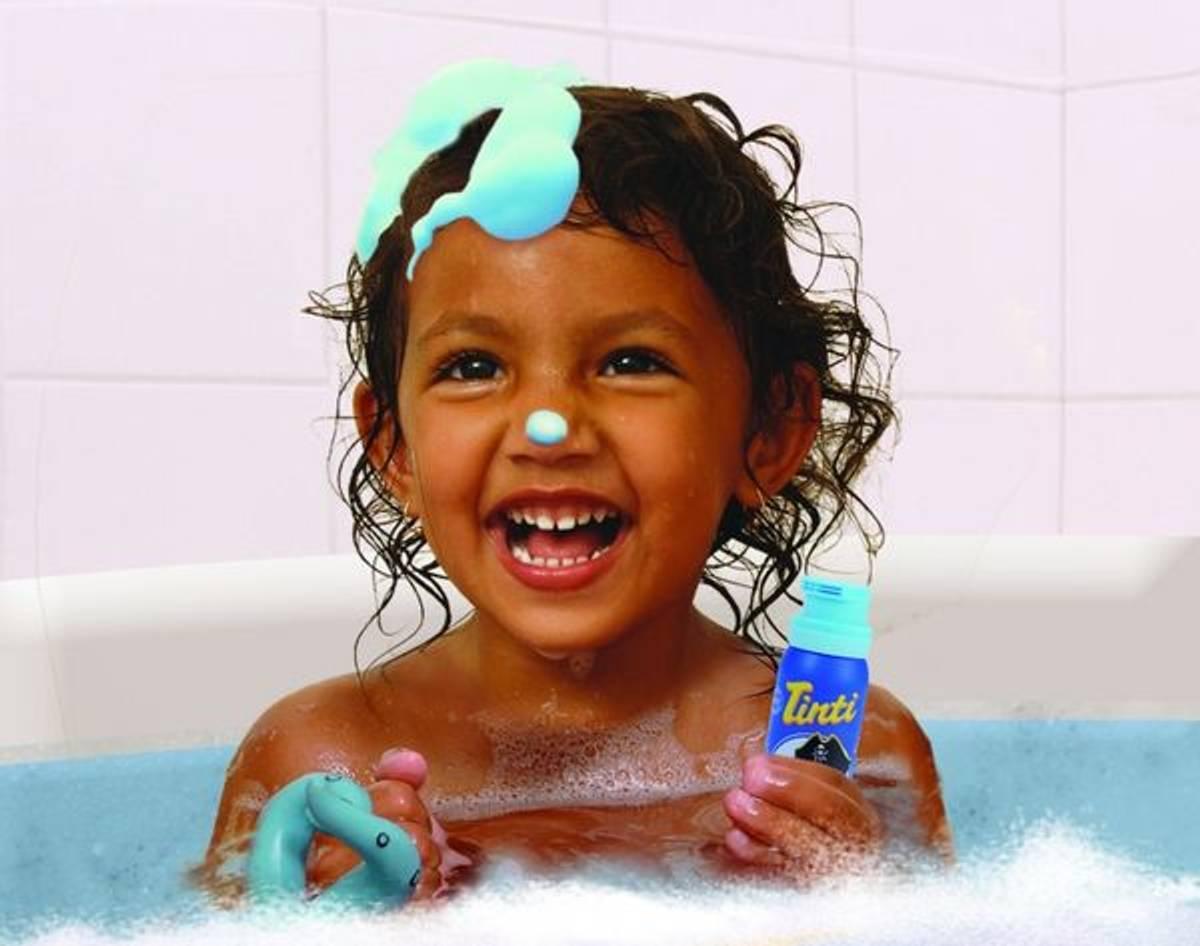 Tinti badeskumsåpe - blå