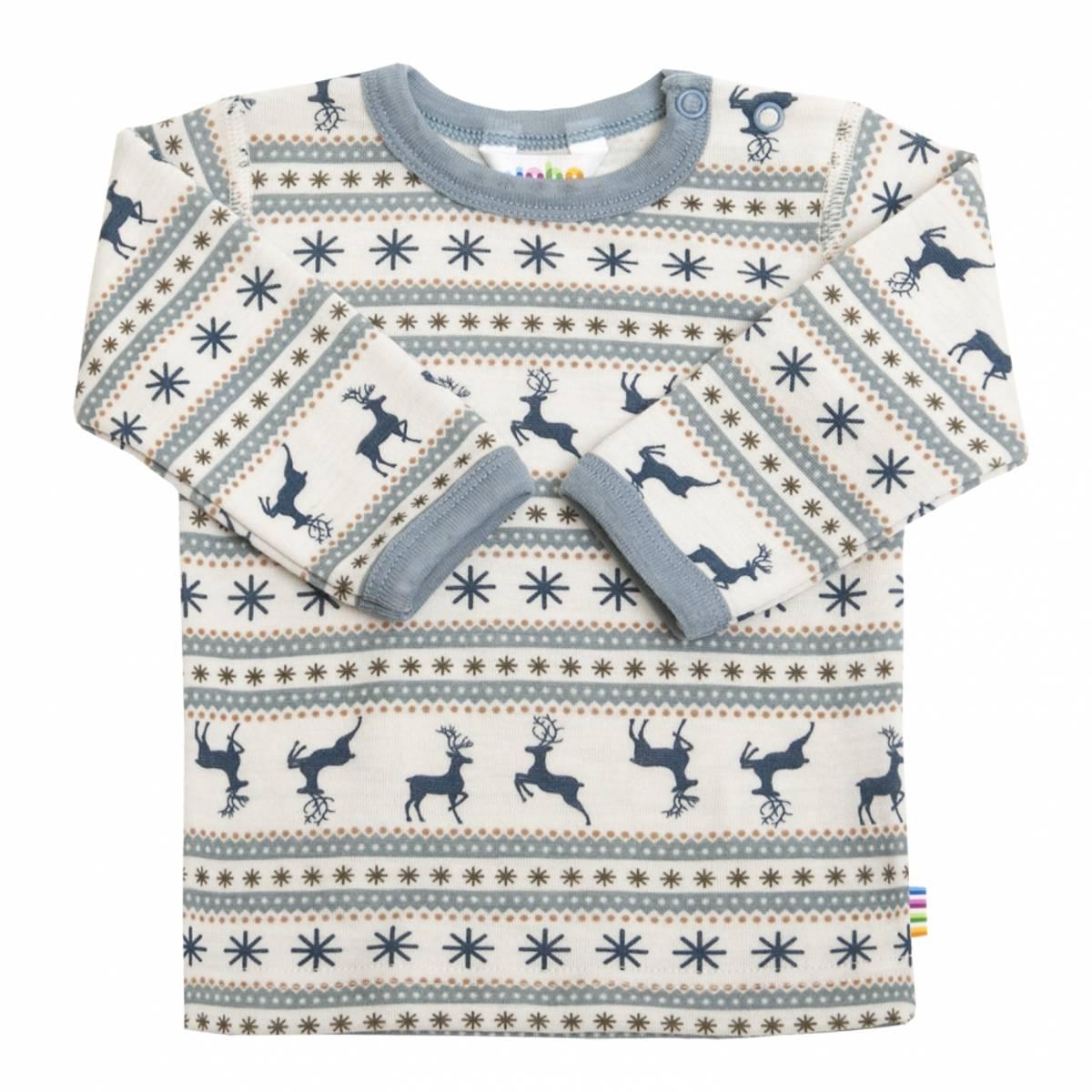 Joha Jumping Deer ull trøye mini - blå